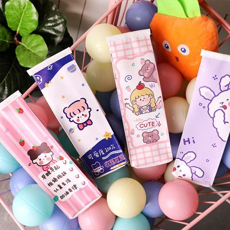 Fashion cartoon milk pencil case cute Korea large capacity storage pencil case simple stationery pencil case nihaojewelry NHHE237629's discount tags
