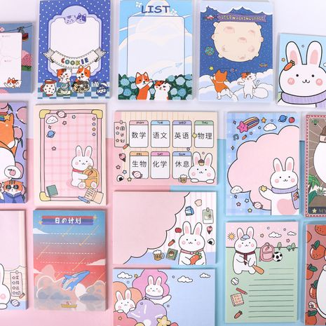 Cartoon Memo Pad Cute Office Desktop Message Note Non-sticky Memo Pad wholesale nihaojewelry NHHE237631's discount tags