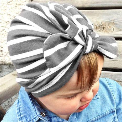 nouveaux produits produits pour bébés automne et hiver chaleur rayé capuche nouée en gros nihaojewelry NHHV237637's discount tags