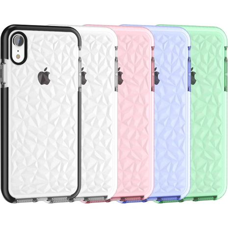 transparent diamond pattern mobile phone case for iphone11 oppo vivo Huawei TPU case wholesale nihaojewelry NHKI237652's discount tags