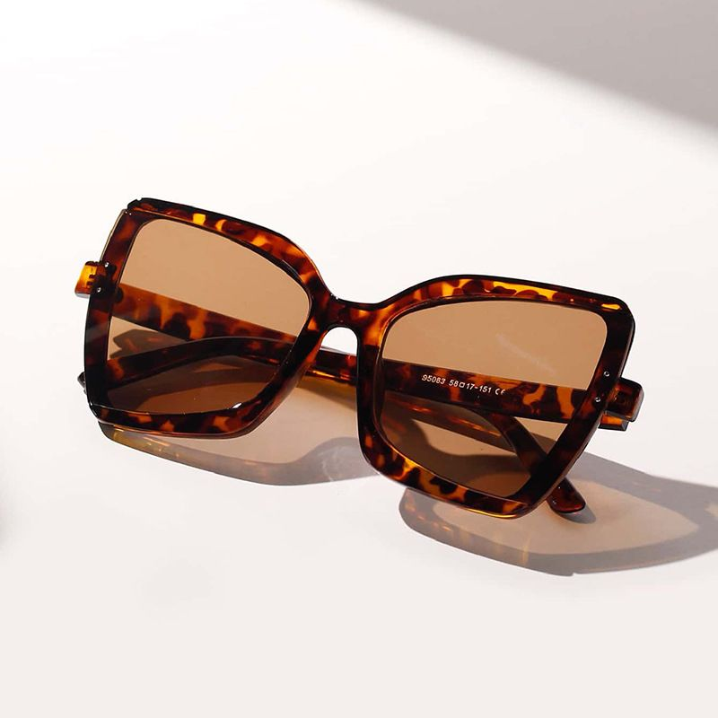 Fashion pointed cats eye square sunglasses men retro tortoiseshell sunglasses for women UV protection sunglasses NHXU237663