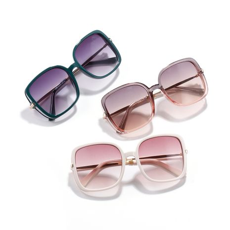 Fashion big box candy color sunglasses for women half metal square ocean piece sunglasses men Korean style trend glasses NHXU237664's discount tags