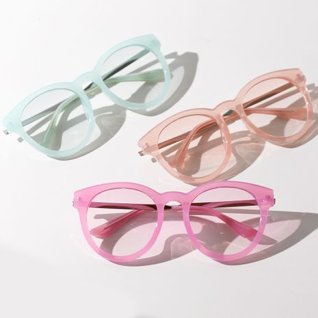 Fashion Candy Color Glasses Retro Sunglasses For women Student Korean Color Summer Color Flat Glasses NHXU237667's discount tags
