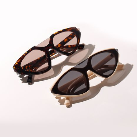 Fashion Angular Retro One-piece Glasses Men's Party Cat Eye Sunglasses Men and Women Leopard Print Sunglasses NHXU237668's discount tags
