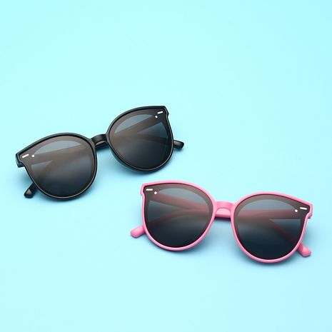 new silicone children's polarized sunglasses anti-ultraviolet ink fashion trendy glasses wholesale nihaojewelry NHBA237685's discount tags