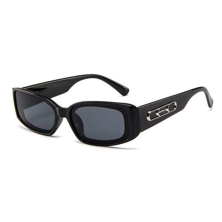 New fashion trend box sunglasses small frame men and women jelly color sunglasses retro glasses nihaojewelry NHBA237693