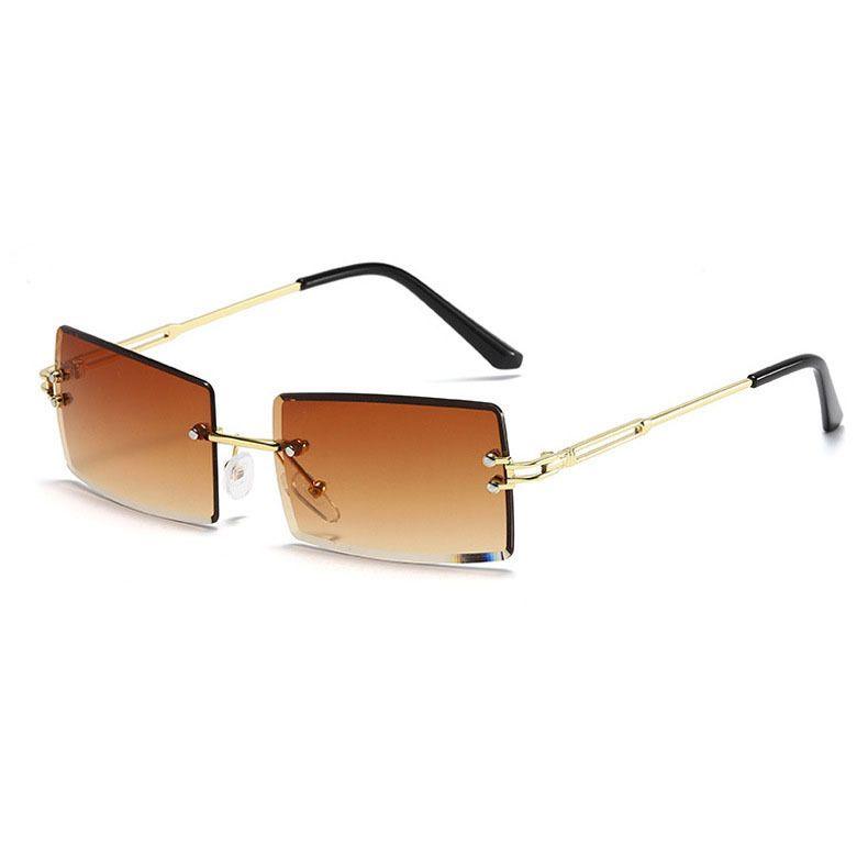 Fashion new metal frame sunglasses for women large frame sunglasses diamond cut gradient color sunglasses nihaojewelry NHBA237696