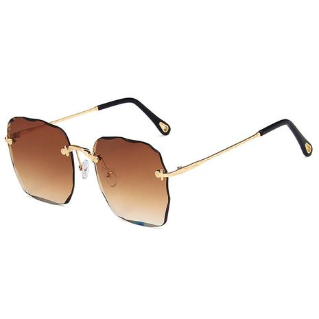 Rimless Sunglasses for women Cut Edge  Retro Sunglasses Anti-UV Sunglasses nihaojewelry NHBA237699's discount tags