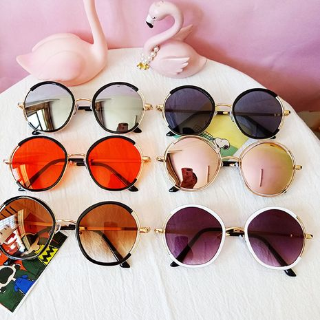 Children's sunglasses new fashion baby sunglasses round UV protection glasses wholesale nihaojewelry NHBA237701's discount tags