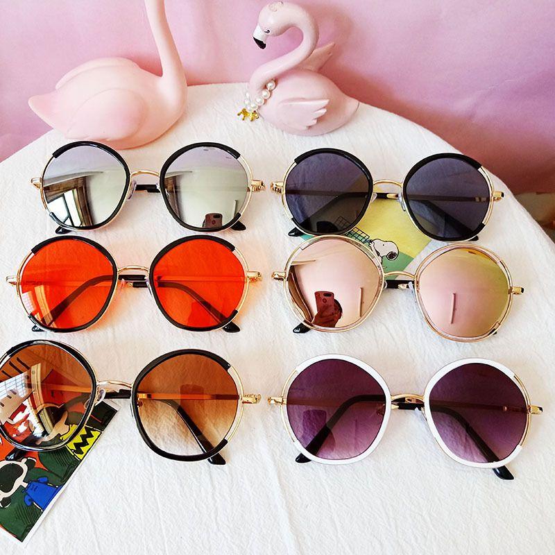 Childrens sunglasses new fashion baby sunglasses round UV protection glasses wholesale nihaojewelry NHBA237701