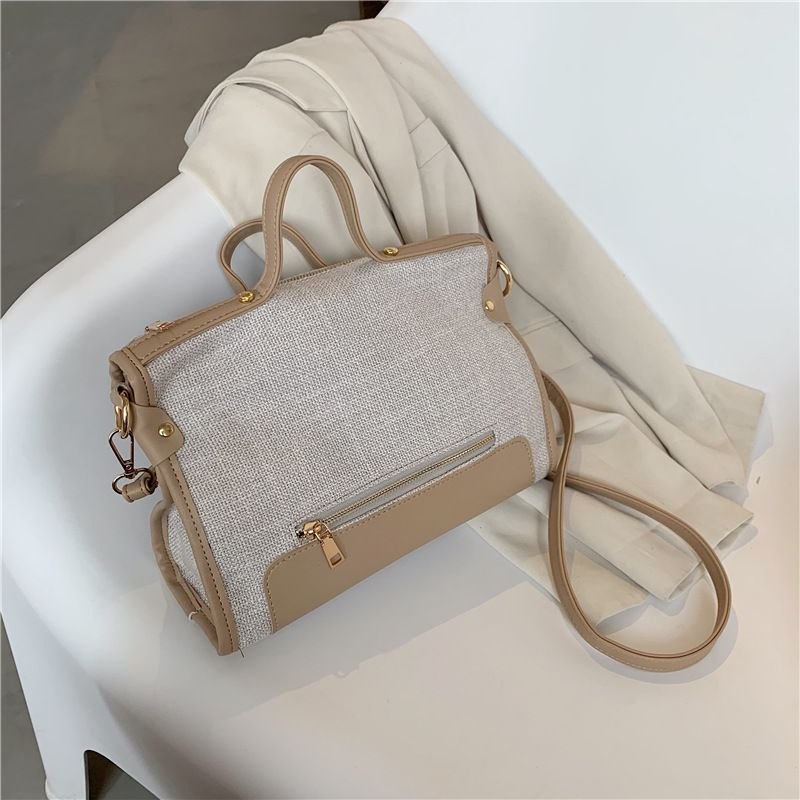 Fashion Canvas handbags summer new handbag fashion one shoulder messenger bag retro large capacity trend handbag NHGA237847