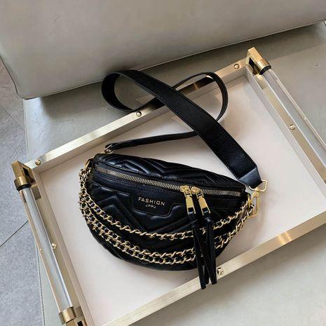 Fashion bag new trendy waist bag for women broadband messenger bag texture wild small waist bag nihaojewelry NHGA237855's discount tags