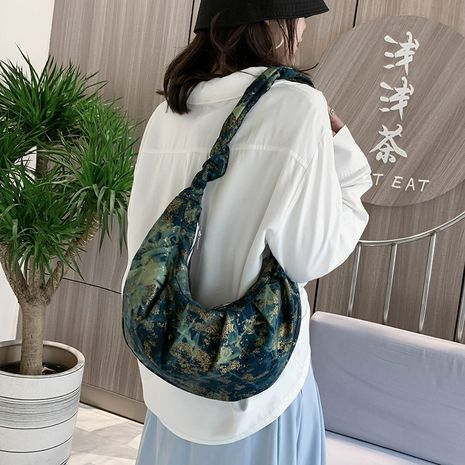Fashion Sweet small floral canvas single shoulder small square bag girl fresh fold shoulder strap literary cute bag NHXC237857's discount tags
