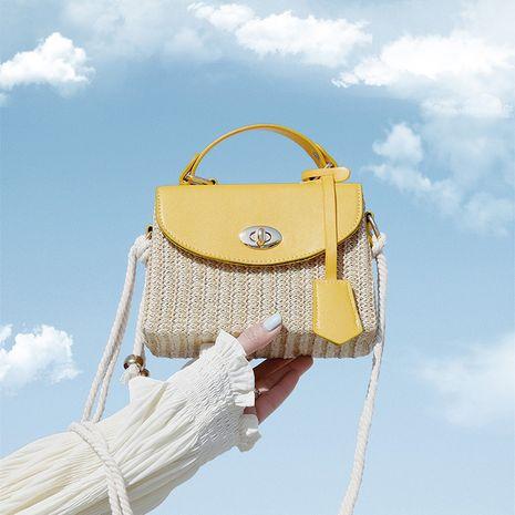 Nuevo bolso de moda de verano para todos los bolsos bolso de perlas tejidas de paja para mujer bolso de mensajero bolso cuadrado pequeño de gran capacidad NHXC237861's discount tags