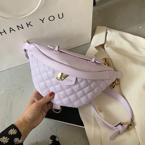Fashion bag women's bag new trend women's bag chest bag embroidery thread wild waist bag Korean diagonal chest bag NHJZ237927's discount tags