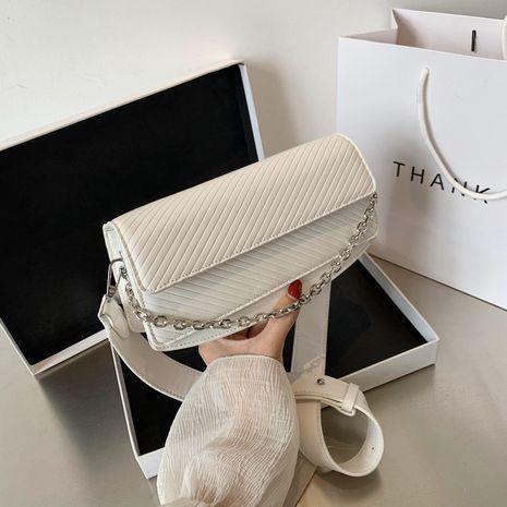 Bolso cuadrado pequeño de moda verano nuevo bolso de mujer portátil de moda coreano hombro mensajero cadena bordado hilo pequeño bolso cuadrado NHJZ237941's discount tags