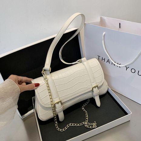 Fashion niche crocodile pattern baguette used bag handbag  new fashion chain shoulder messenger bag nihaojewelry NHJZ237945's discount tags