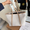 Fashion size bag single shoulder portable new Korean bag canvas womens bag large capacity wild simple tote bag NHJZ237949