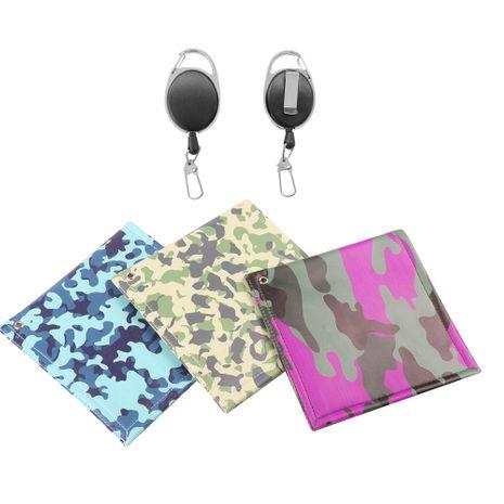 Mode nouvelle balle de golf à la mode coréenne anneau suspendu lingettes camouflage double face coton balle de golf lingettes nihaojewelry NHBN237957's discount tags