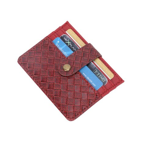 Moda coreana simple ranura para múltiples tarjetas titular de la tarjeta corta patrón tejido monedero mini titular de la tarjeta billetera de niña verano nuevo NHBN237959's discount tags