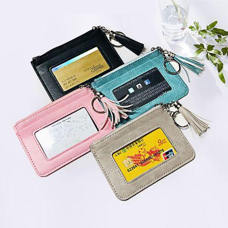 Korea new style ladies tassel wallet zipper coin purse mini clutch bag student purse wholesale nihaojewelry NHBN237960's discount tags