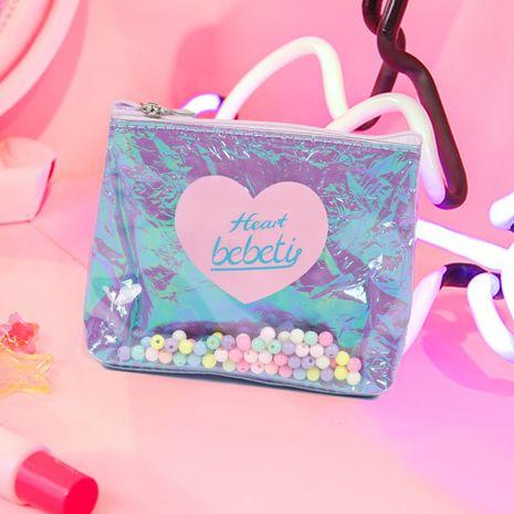 Mode nouvelles perles coréennes porte-monnaie paillettes sac fille sac cosmétique mignon sac de rangement en gros nihaojewelry NHBN237961's discount tags