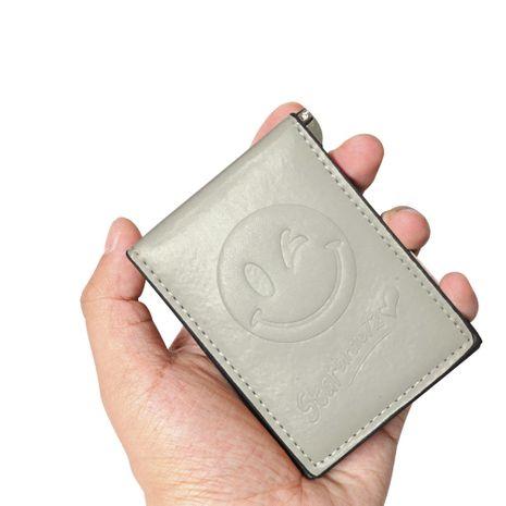 Mode coréenne nouveau portefeuille mini porte-monnaie magnétique porte-carte de changement ultra-mince porte-portefeuille smiley en gros nihaojewelry NHBN237962's discount tags