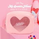 Korean fashion transparent laser diamond love cosmetic bag girl heart large capacity travel storage cute bag nihaojewelry NHBN237965