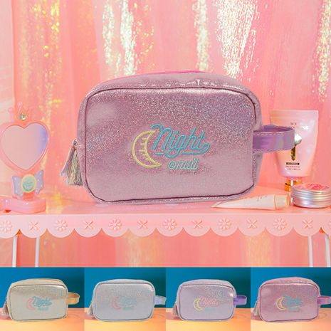 Korean fashion travel cosmetic bag portable travel storage bag new hand-held cosmetic bag toiletry bag nihaojewelry NHBN237967's discount tags