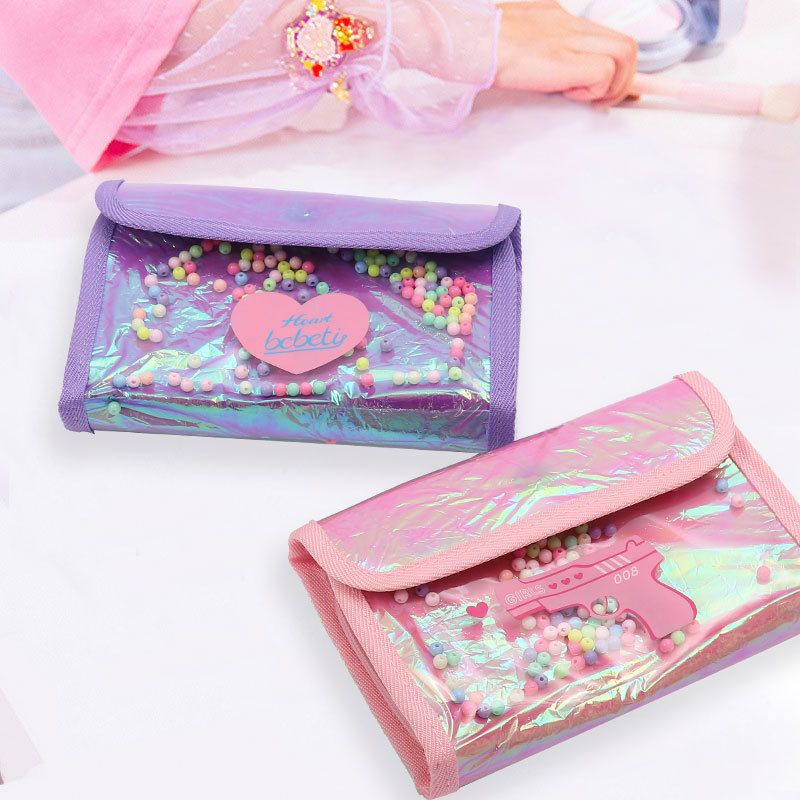 Fashion Korean new beads laser bag sequins bag girl cosmetic bag exquisite cute storage bag nihaojewelry NHBN237972