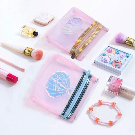 Korean fashion mesh shell storage bag transparent sanitary napkin bag for girls sanitary napkin bag for girls nihaojewelry NHBN237973's discount tags