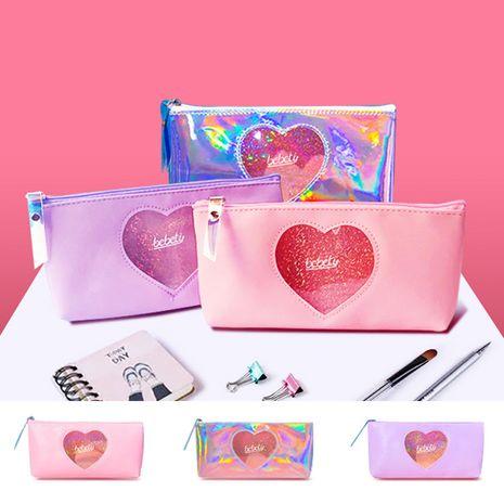 Linda caja de lápices transparente coreana linda chica corazón de gran capacidad caja de lápices bolsa de cosméticos de almacenamiento portátil nihaojewelry NHBN237975's discount tags