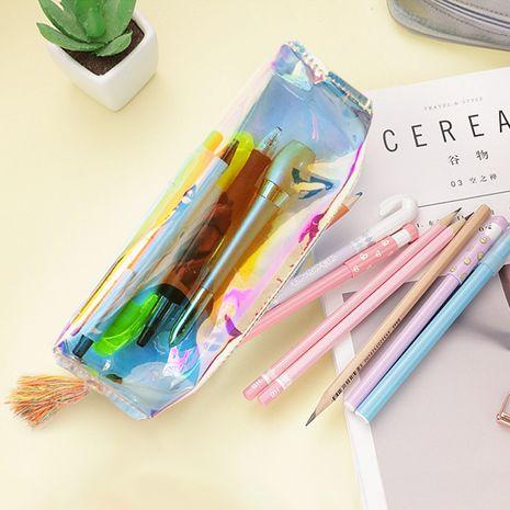 Estuche de lápices transparente colorido literario de moda Estuche de lápices de Corea regalo de niña de escuela al por mayor nihaojewelry NHBN237978's discount tags