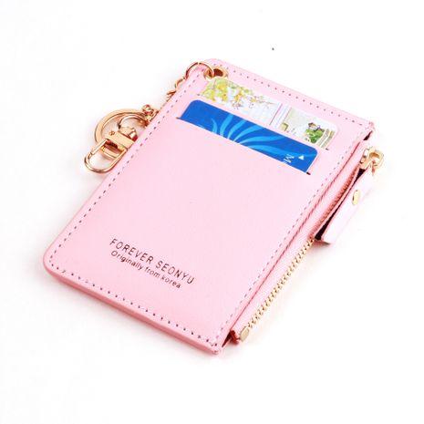Fashion korean short card zipper cute card holder coin bag zipper card holder coin purse girl wallet wholesale nihaojewelry NHBN237980's discount tags