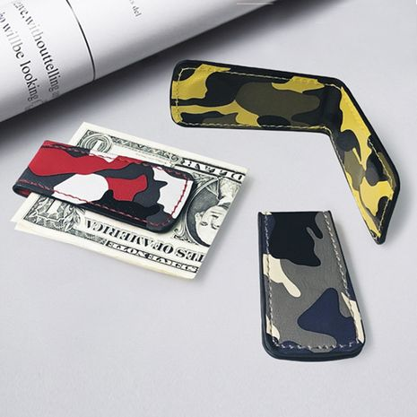 Fashion Korean new camouflage wallet mini magnet clip simple ultra-thin wallet coin wallet wholesale nihaojewelry NHBN237984's discount tags