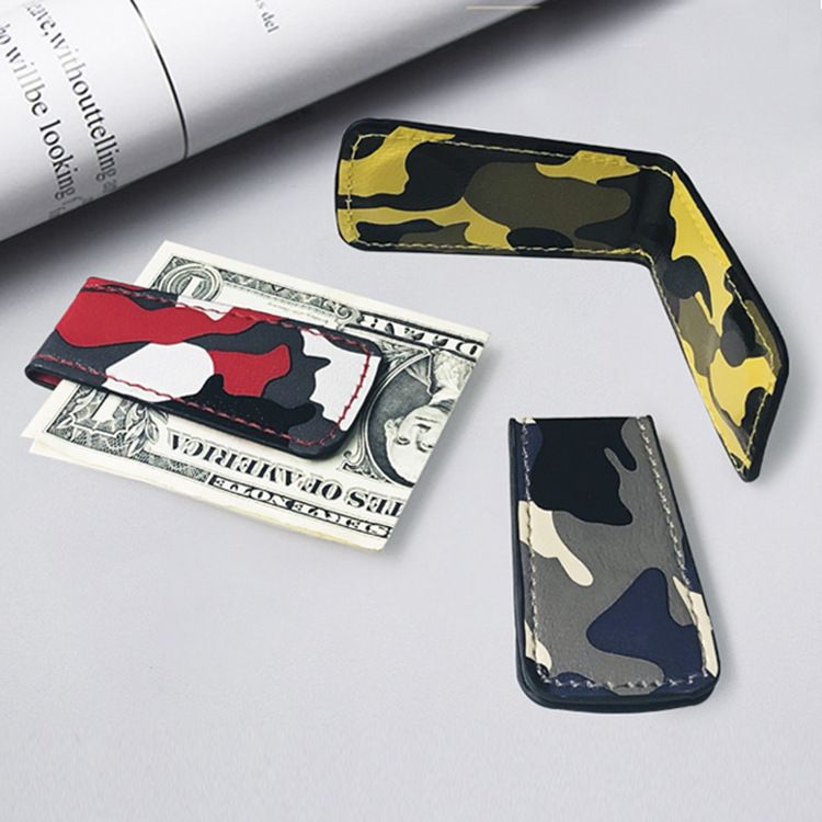 Fashion Korean new camouflage wallet mini magnet clip simple ultra-thin wallet coin wallet wholesale nihaojewelry NHBN237984