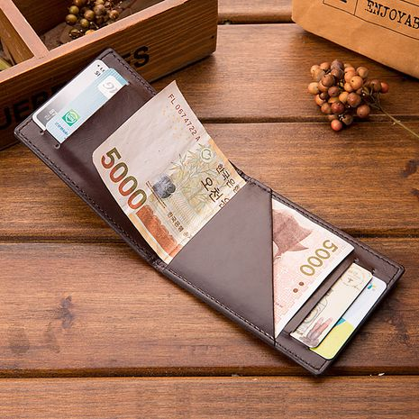 Korean fashion short open wallet anti-theft brush wallet simple wallet multifunctional exquisite card package nihaojewelry NHBN237987's discount tags