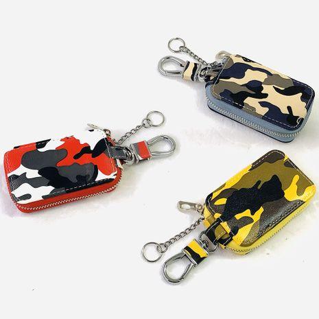 Korean fashion camouflage car universal key case custom multifunctional zipper waist keychain wholesale nihaojewelry NHBN237991's discount tags