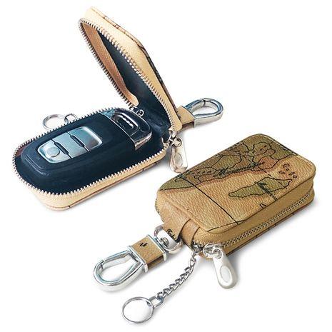 Korean fashion smart car key case map pattern universal key case new casual lock case wholesale nihaojewelry NHBN237992's discount tags