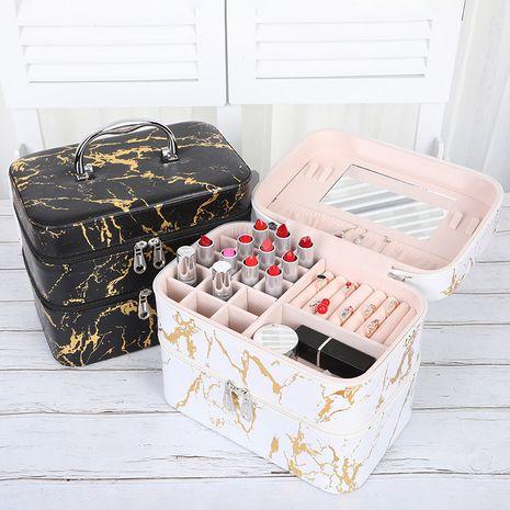 Moda nueva caja de cosméticos portátil multifuncional maquillaje caja de herramientas de manicura de belleza joyería anillo pendiente caja de almacenamiento NHHO237995's discount tags