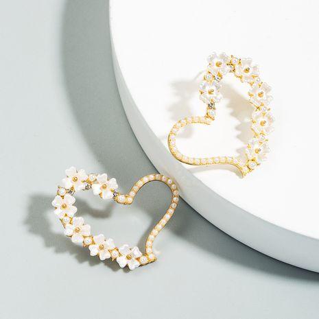 S925 sterling silver earrings for women pearl love earrings retro French niche heart-shaped earrings NHLN238005's discount tags