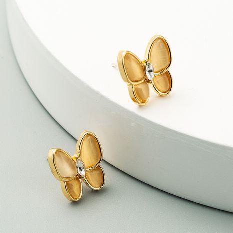 fashion S925 silver needle butterfly earrings for women Korean animal stud earring wholesale NHLN238009's discount tags