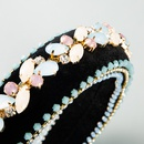 Colored diamond headband for girls retro baroque crystal thick sponge headband hair accessories NHLN238013