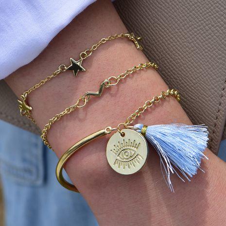 hot sale Fashion Devil Eye Tassel Pentagram Bracelet wholesale nihaojewelry NHOT238031's discount tags
