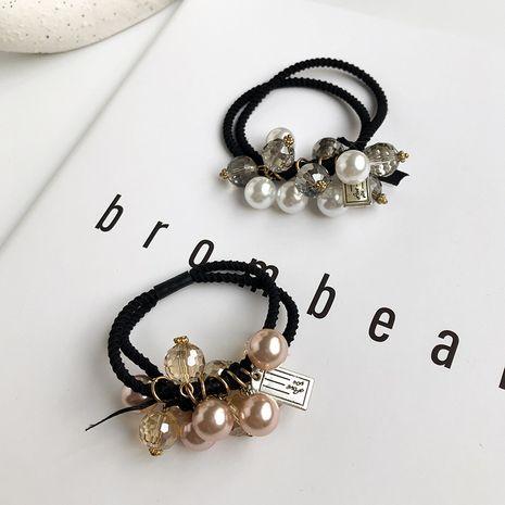 Mode perle élastique coiffure coréenne accessoires de cheveux nouvelle tête corde cristal cheveux chouchous en gros nihaojewelry NHWF238061's discount tags