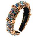 Mode paissie ponge or velours tissu fait main bandeau perl mode perle fleur bandeau en gros nihaojewelry NHCO238092