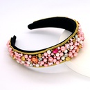 Baroque fashion fabric headband for women color full diamond handmade pearl head accessories widebrimmed headband nihaojewelry NHCO238094