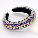 Fashion diamond headband retro baroque crystal hair accessories thick sponge hair accessories wholesale nihaojewelry NHCO238096
