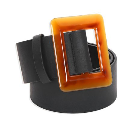 Fashion wild square resin leather belt geometric square simple waist chain nihaojewelry wholesale  NHJQ238105's discount tags