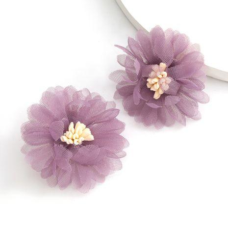 individuality lace flower S925 silver needle earrings trend art fan earrings wholesale nihaojewelry NHJE238117's discount tags